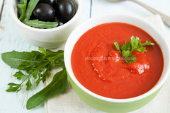 Colorful tomato soup on a white background, closeup (victoria.kondysenko) Tags: red food green cooking closeup dinner tomato lunch cuisine soup vegan healthy colorful dish starter background traditional spice cream bowl vegetable fresh gourmet delicious health snack meal vegetarian blended appetizer organic diet cooked smoothie broth assortment gazpacho puree nutrition vitamin