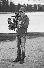 tarkkabw (Markus Pylkknen Photography) Tags: camera blackandwhite lake water grass canon finland lumix eyes musicvideo hmeenlinna canon6d stillshooting brunobinch