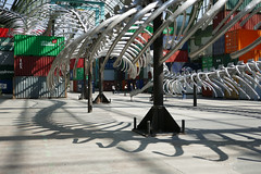 Shadows from the Monumenta serpent (Monceau) Tags: metal skeleton shadows serpent shipping containers grandpalais monumenta