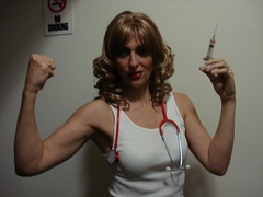 Model Loria. (Jonathan C. Aguirre) Tags: film muscles actors arms muscle models movies biceps hotgirls nurses flexing cutegirls tvshows injections sexynurses armfetish hotarms femalearms