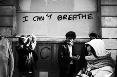 I Can't Breathe (nzkphotography) Tags: street people blackandwhite paris france monochrome europe noiretblanc 28mm streetphotography ricohgr labourday compact 2016 seriouscompacts