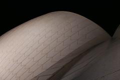 Armadillo in concrete (cerebellah) Tags: roof shells white black night pattern sydney australia diagonal zigzag sydneyoperahouse