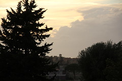 IMG_0855 - Verso sera (spartano2010 - the start of the summer will be lik) Tags: tramonto tetti chiesa campanile calabria sera tropea ottobre parghelia