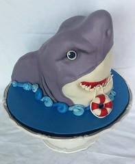 Shark cake (ldeandyment) Tags: cake shark 3d unique teeth custom sculpting fondant lifefloat kidscake
