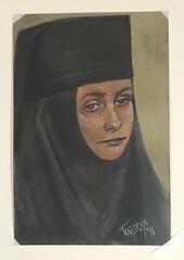 () Tags: srbija pravoslavlje orthodox monk monestery manastir grgeteg fruskagora srem monahinja ekatarina pastel crtez