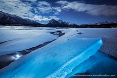 Cold As Ice (David Swindler (ActionPhotoTours.com)) Tags: winter moon canada cold ice night nightscape fullmoon alberta abrahamlake lakeabraham