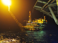 DP4 Night (thulobaba) Tags: night fire energy flames platform gas jacket flare oil derrick drilling