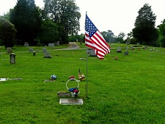 Paying Respect ..... (~ Cindy~) Tags: flowers all respect tennessee flag some harriman gave gravesites oldglory paying explored childsmemorialcemetery ruralcountrychurch