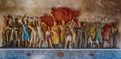 Inside the Opera House of Ulan Ude (swissgoldeneagle) Tags: lenin sculpture wall russia wand skulptur siberia d750 ru stalin russland ulanude sibirien уланудэ burjatien бурятия сибирский siberianfederaldistrict сибирскийфедеральныйокруг buryatiyarepublits