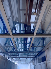 Deep (C_MC_FL) Tags: vienna wien window glass lines architecture modern canon photography eos fotografie pov geometry fenster elevator perspective optical pointofview illusion architektur tamron glas futuristic perspektive aufzug geometrie linien futuristisch blickwinkel optische tuschung 18270 60d b008