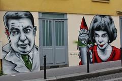 Zabou_0406 rue Androuet Paris 18 (meuh1246) Tags: streetart paris audreytautou naindejardin buttemontmartre amliepoulain paris18 zabou rueandrouet