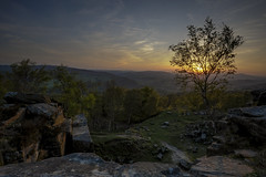 Hope (Luke Hanna) Tags: uk trees sunset sky sun tree landscape hope rocks view derbyshire valley
