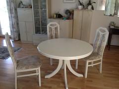 Weisser Tisch mit 4 Sthlen (suark_ch) Tags: weisser tisch mit 4 sthlen hohen rckenlehnen