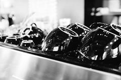 Coffee mugs at Super Six. Seattle, WA. June 2016. (poopoorama) Tags: columbiacity seattle supersix brunch restaurant washington unitedstates
