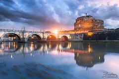 Chateau Saint-Ange // Rome (BastoShots Photography) Tags: city blue sunset rome roma saint night photoshop canon long exposure cityscape ange ponte hour pont 5d manual angelo chateau sant castel blending 2016 tibre