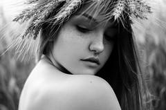 Jozefina (Litvac Leonid) Tags: light portrait blackandwhite italy white black beauty 50mm daylight nikon italia natural freckles freckled leonid litvac