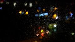 my hood. (Nassia Kapa) Tags: city uk blur london window water rain lights book drops colours fuji vibrant fujifilm manualfocus freya breakup viewfromabove londontales nassiakapa