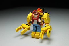 Caterpillar P-5000 Work Loader ([C]oolcustomguy) Tags: blue red white black brick yellow work arms lego space alien caterpillar loader xenomorph p5000 brickarms