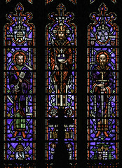 Apostles of Christ (Lawrence OP) Tags: keys paul oakland saints stainedglass peter sword jesuschrist