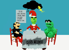 Club Meanie (boopsie.daisy) Tags: christmas street red cloud holiday chart storm cute green toys oscar funny sesame group bad plan meeting jim plush grinch list bolt lightning oscarthegrouch plans muppet gavel smurfs thunder nasty comical grumps grump henson assembly villian villians grouchy grouch gargamel grinchwhostolechristmas