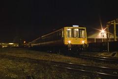 DMU set L595 stabled in Ashford Works Yard. 1989. (Marra Man) Tags: ashford britishrail networksoutheast 51086 51074 l595 59430 class119 ashfordrailwayworks