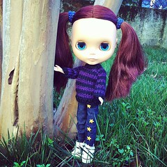 Jonsy with her new jeans handmade by me ^_^