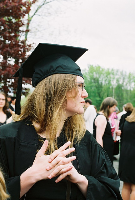 Graduate Looking Around