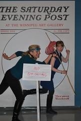 Rachel and Erin (Winnipeg Art Gallery) Tags: art museum studio gallery winnipeg manitoba wag normanrockwell saturdayeveningpost winnipegartgallery americanchroniclestheartofnormanrockwell