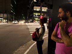 Avenida Paulista (mardruck) Tags: street brazil brasil night de photography avenida saopaulo sopaulo olympus noite snapshots rua 12mm 20 paulo fotografia avenue zuiko so paulista ep3 f20