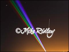 Meteorite over UK (Mike Ridley.) Tags: sky news motion laser nightscene meteor meteorite multicolour whitleybay whitlybay yvettemattern globalrainbow
