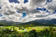 Hanalei Overlook (Ron Scubadiver's Wild Life) Tags: kauai hawaii landscape mountains sky nikon clouds fields river farms outdoor