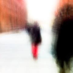 Dagens foto - 157: Changes (petertandlund) Tags: street longexposure shadow red man blur silhouette square shadows sweden stockholm dream streetphotography dreamy 365 sthlm icm 08 davidbowie slowshutterspeed drottninggatan 157365 intentionalcameramovement