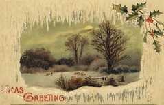 Christmas postcard dated 23 December 1910 (Aussie~mobs) Tags: vintage christmaspostcard