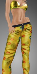JADOR Mesh Skinny pants yellow (mimi.juneau *Mimi's Choice*) Tags: fashion spring colorful pants mesh secondlife jador mimijuneau ziamelaloon mimischoice spring2012