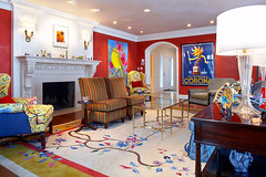 "Whimsical and colorful red Living Room • <a style=""font-size:0.8em;"" href=""http://www.flickr.com/photos/75603962@N08/6853269425/"" target=""_blank"">View on Flickr</a>"