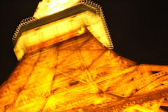 Tokyo Tower (kevin dooley) Tags: light orange lightpainting tower japan architecture canon eos 50mm tokyo steel 14 structure tokyotower lattice minato icm sibapark 40d intentionalcameramovement