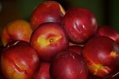 Summer (Deb Jones1) Tags: red summer food beauty fruit canon peaches stillife stonefruit flickrduel debjones1