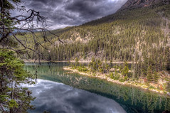 Horseshoe Lake (Fil.ippo) Tags: horseshoe lake lago alberta canada national park parco nazionale d5000 hdr filippo reflection riflessi flickrdiamond filippobianchi