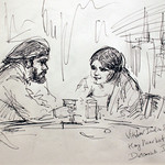 "<b>Conversation, Drink, Rest</b><br/> Iudin (Ink, 2011)<a href=""//farm8.static.flickr.com/7036/6876606185_0100c7ab66_o.jpg"" title=""High res"">∝</a>"