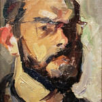 "<b>Self Portrait</b><br/> Iudin (Oil on canvas, 1967)<a href=""//farm8.static.flickr.com/7036/6876615063_09985997d5_o.jpg"" title=""High res"">∝</a>"