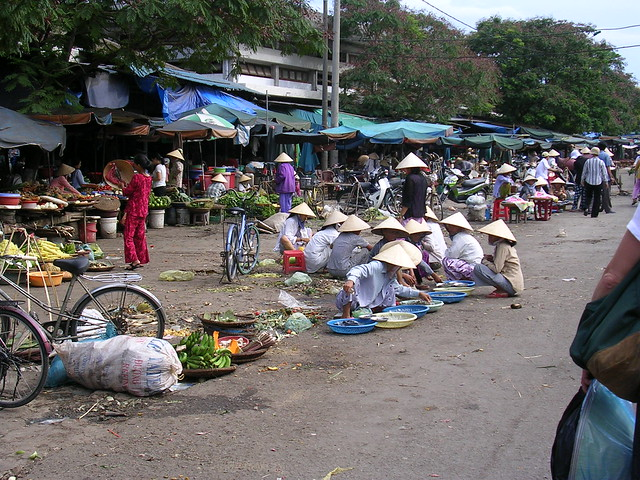 Market place in Hue