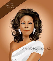 WHITNEY HOUSTON Tribute (Samir Al-Haj) Tags: girl drawing digitalart draw samir whitneyhouston iwillalwaysloveyou   samiralhaj   19632012 whitneyhoustontribute whitneyhoustondeath