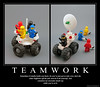 T E A M W O R K (halfbeak) Tags: poster lego space sciencefiction minifig teamwork motivational moc demotivational classicspace