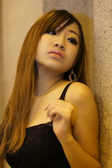 _DSC9825 (rickytanghkg) Tags: light portrait sexy girl female night asian evening model sony low chinese dim a550