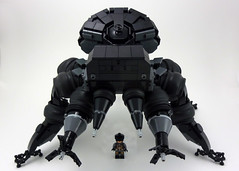 Kumo  (curtydc) Tags: black anime brick art walking toy robot spider stand model gun alone tank lego drawing think ghost sac manga shell machine gits creation concept custom complex mecha mech fuchikoma kumo moc shirow masamune multiped tachikoma  uchikoma