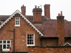 House, Sutton Rd., Shrewsbury (wonky knee) Tags: uk house shropshire shrewsbury gables chimneys brickwork dormers bargeboards