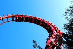 up and down (TabascoEye) Tags: red rollercoaster vekoma walygator parksrides