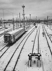 Gare sous la neige (Bordeaux)