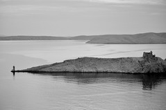 Pag B&W (~Maninas) Tags: sea bw lighthouse seascape reflection water landscape island islands blackwhite nikon ruin croatia limestone april karst pag adriatic jadran krs dalmatia 2011 maninas karstlandscape d5000 april2011