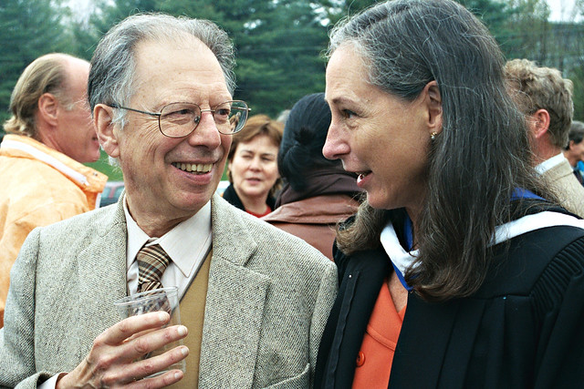 Ellen and Music Professor Luis Batlle (Now Retired)